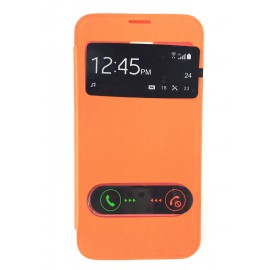 Flip cover cache batterie Orange Samsung Galaxy S5
