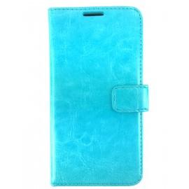 Etui cuir Portefeuille Bleu Ciel Samsung Galaxy S5