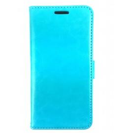 Etui cuir bleu ciel Samsung Galaxy S6 edge