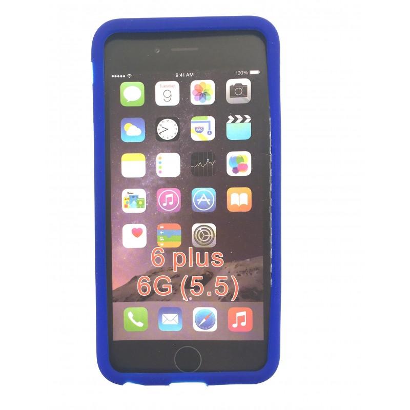 coque en silicone bleue pas ch re iphone 6 plus tout. Black Bedroom Furniture Sets. Home Design Ideas