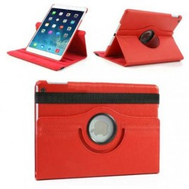 Etui cuir 360° iPad Air 2 Rouge