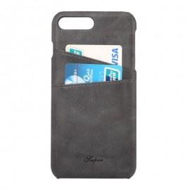 Coque cuir Noir iPhone 7 Plus / iPhone 8 Plus