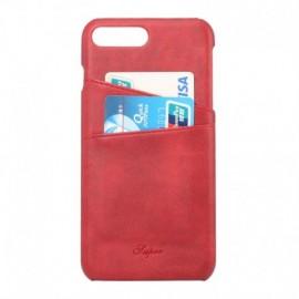 Coque cuir iPhone 7 Plus rouge