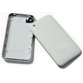 Coque arrière blanche iPhone 3GS/3G + contour chrome