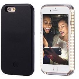 Coque Selfie lumineuse iPhone 6/6S noir