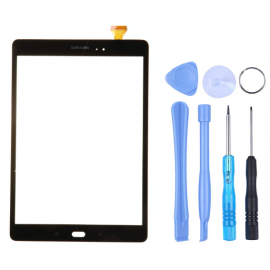 Vitre tactile Samsung Galaxy Tab A 9.7 Noir (T550) + Outils
