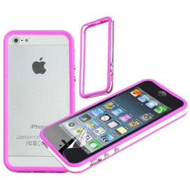 Bumper rose et blanc iPhone 5