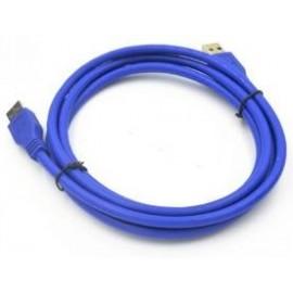 Câble USB 3.0 vers USB 3.0 - Bleu 1,5M