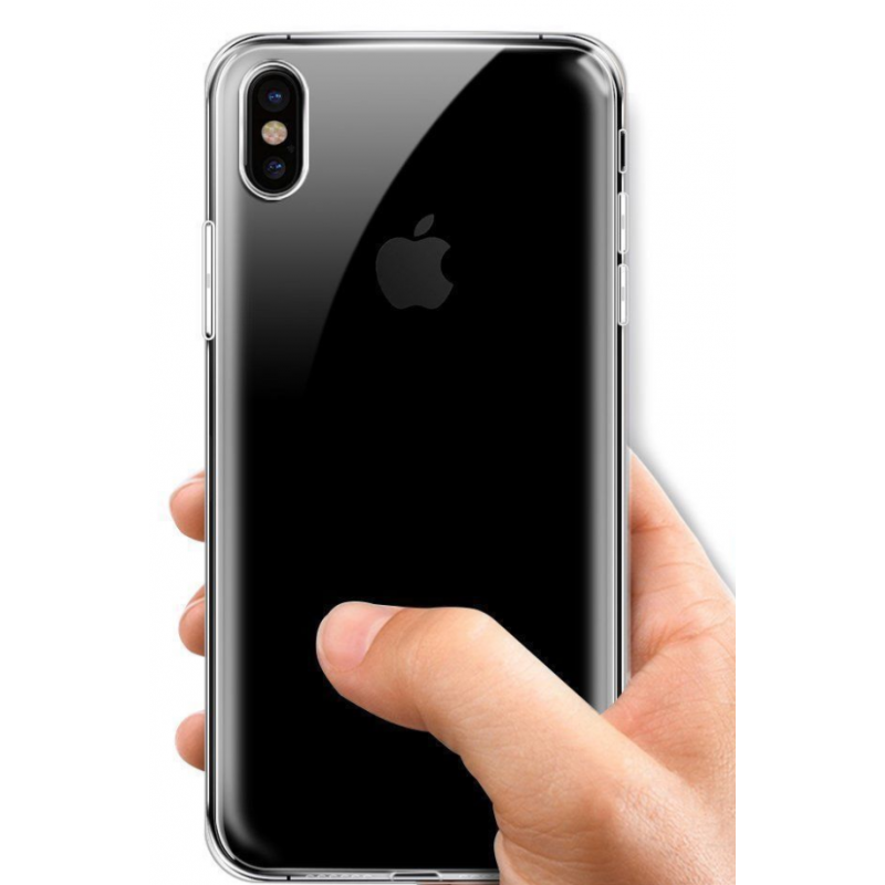 coque a clapet transparent iphone x