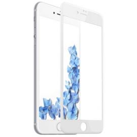 Film en verre trempé + contour intégral iPhone 7 plus / 8 Plus Blanc