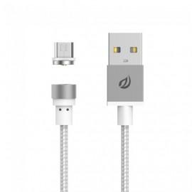 Câble Micro USB magnétique - Silver
