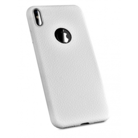 coque silicone grainé Blanc iPhone X / Xs
