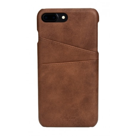 coque iphone 8 plus cuir marron