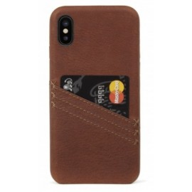 Coque porte carte marron iPhone X