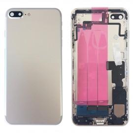 Coque arrière complète iPhone 7 Plus Argent