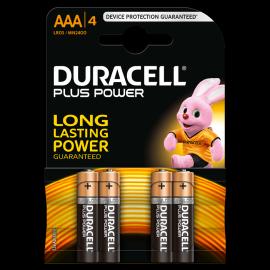 Lot de 4 piles AAA Duracell