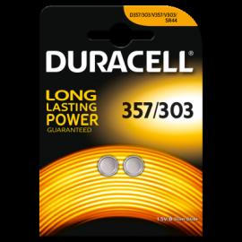 Lot de 2 piles 357/303 Duracell