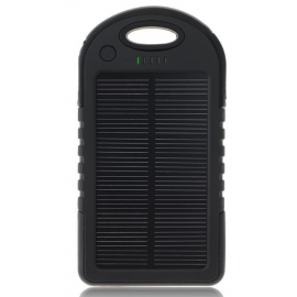 Batterie solaire externe 10000 mAh + lampe noir