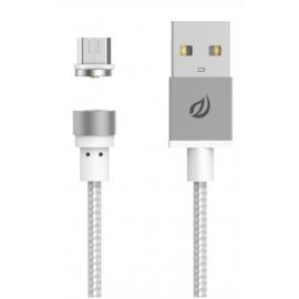 Câble Micro USB magnétique argent