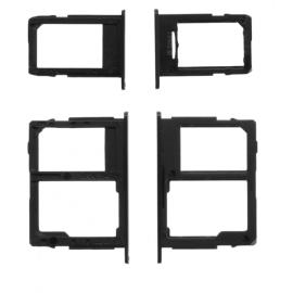 Double tiroir SIM + lecteur carte SD Samsung Galaxy J5 / J7 2017 Noir