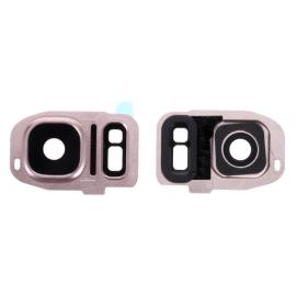 Lentille camera arrière Samsung Galaxy S7 / S7 Edge Rose