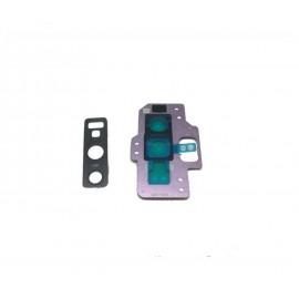 Contour + lentille caméra arrière Samsung Galaxy Note 9 Mauve Orchidée