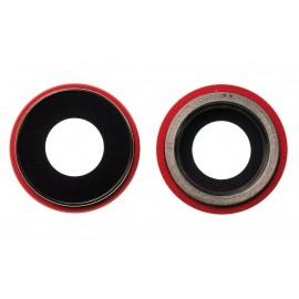 Lentille caméra arrière iPhone XR Rouge
