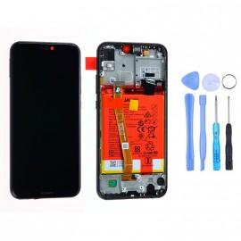 Ecran complet (châssis + batterie) Huawei P20 Lite Noir d'origine Huawei + outils