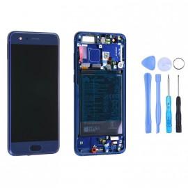 Ecran complet (châssis + batterie) Honor 9 Bleu d'origine