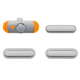 Pack boutons volume + vibreur + power iPad Mini 1/2/3 Argent