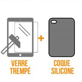 Coque rigide + verre trempé iPad Mini 1/2/3
