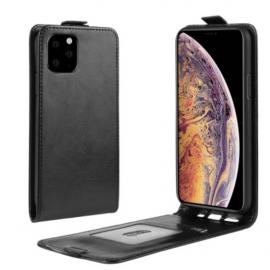 Etui à clapet simili cuir noir iPhone 11 Pro Max