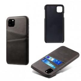 Coque porte-cartes noire iPhone 11 Pro