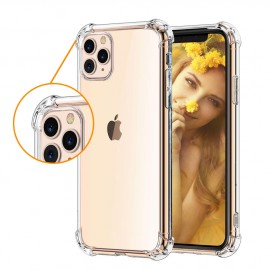 Coque silicone transparente coins renforcés iPhone 11 Pro