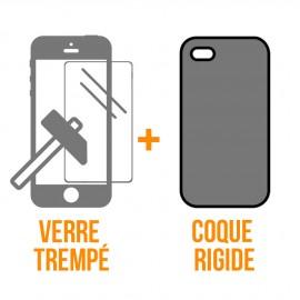 Coque rigide + verre trempé iPhone 11 Pro