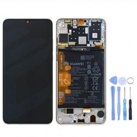 Ecran complet (châssis + batterie) d'origine Huawei P30 Lite Blanc + outils