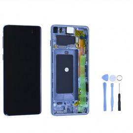 Ecran complet d'origine Samsung Galaxy S10 bleu + outils