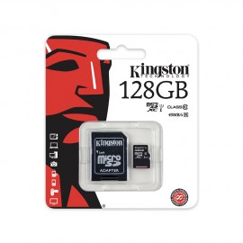 Carte mémoire Micro SD 128Go + adaptateur Kingston