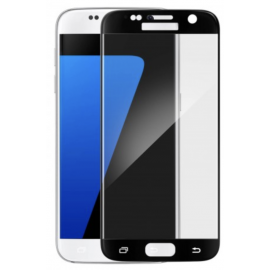 Film en verre trempé + contour noir Samsung Galaxy S7
