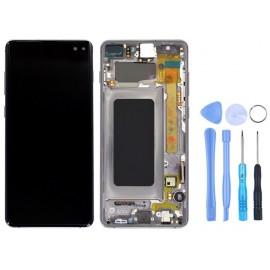 Ecran Samsung Galaxy S10+ Blanc prisme + outils