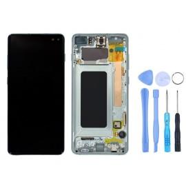 Ecran Samsung Galaxy S10+ Vert prisme + outils