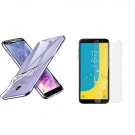 Coque silicone + verre trempé Samsung Galaxy J6 (2018)