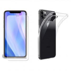 Coque silicone + verre trempé iPhone 11 Pro