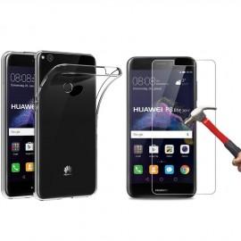Coque silicone + verre trempé Huawei P8 Lite 2017
