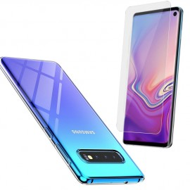 Coque silicone + verre trempé Samsung Galaxy S10E