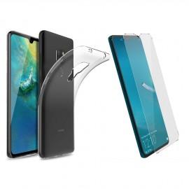Coque silicone + verre trempé Huawei Mate 20