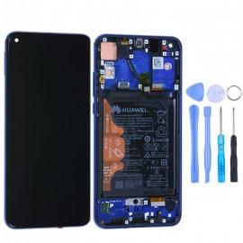 Ecran complet (châssis + batterie) d'origine Honor View 20 Bleu + outils