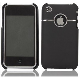 Coque chrome Noir iPhone 3G/3GS