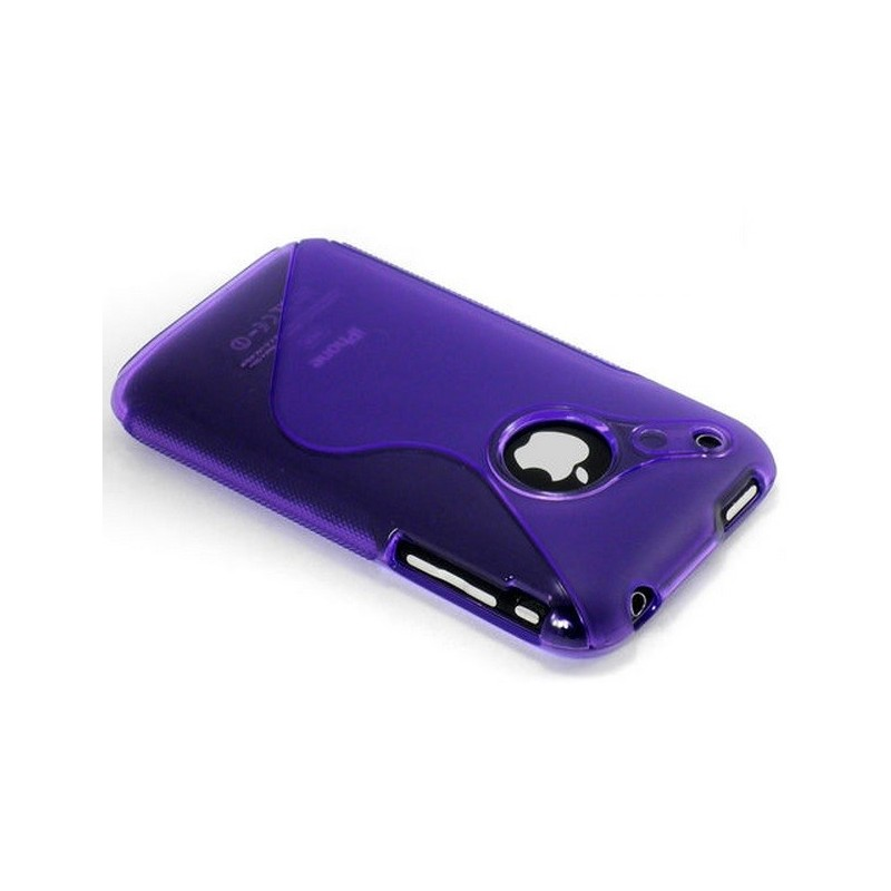 Housse silicone s line violet iphone 3g 3gs for Housse iphone 3g