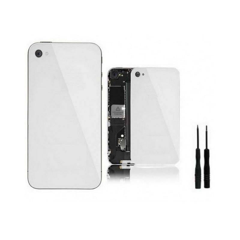 vitre de remplacement arri re iphone 4 blanc tout pour phone. Black Bedroom Furniture Sets. Home Design Ideas